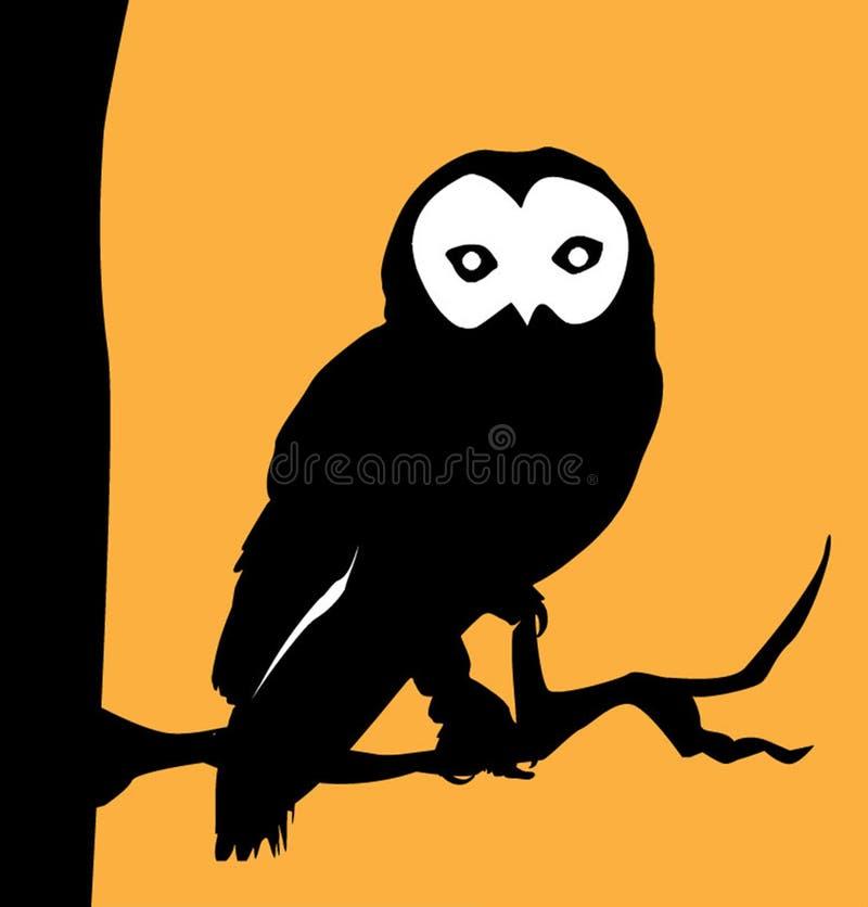 猫头鹰标志和图形设计 库存图片
