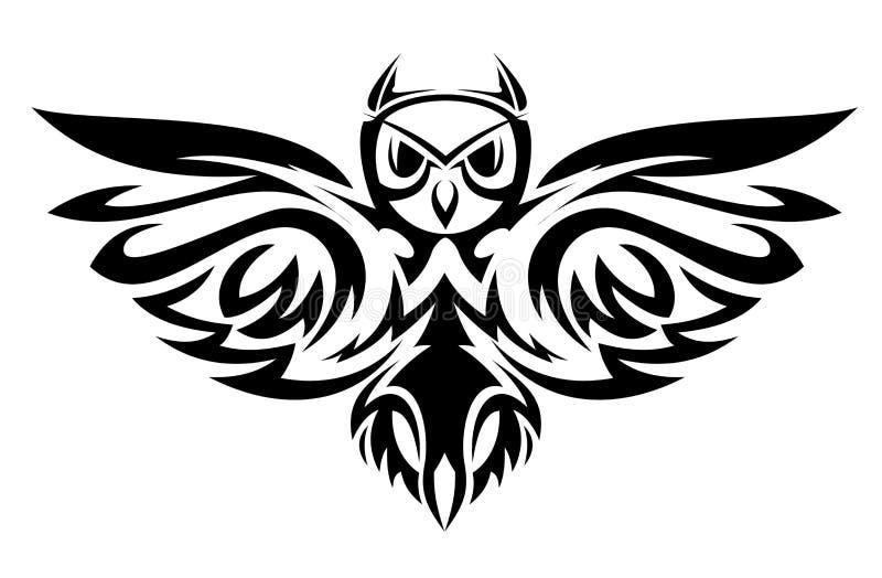 猫头鹰符号 向量例证