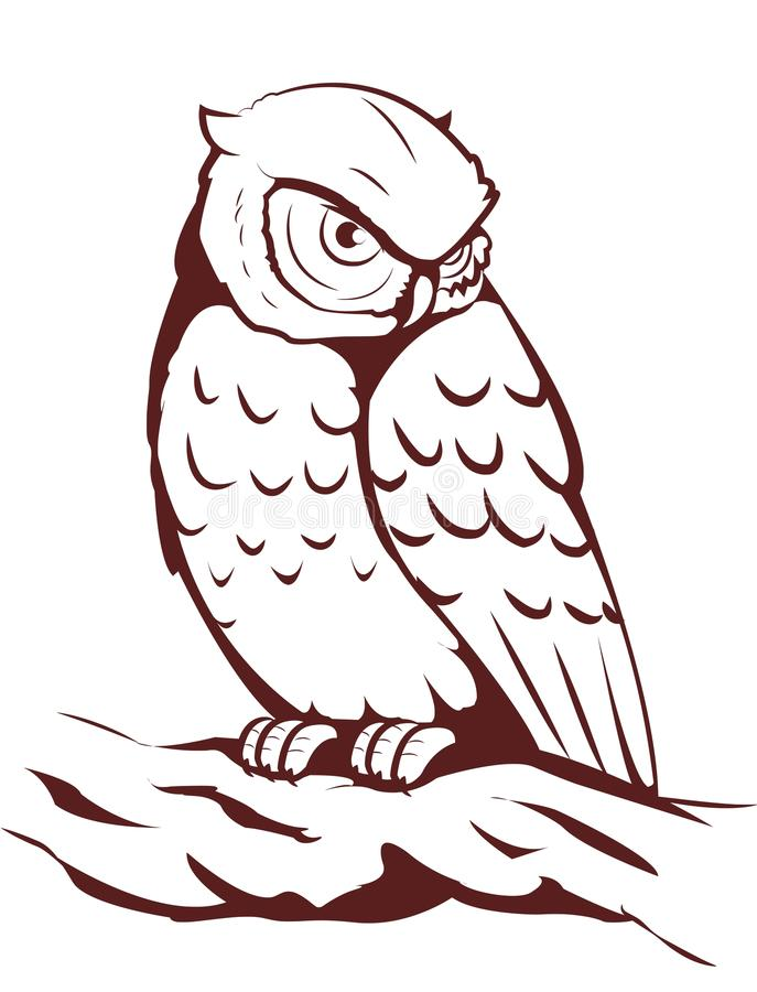 猫头鹰 向量例证