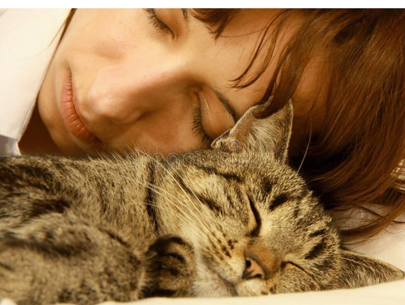 猫妇女 图库摄影