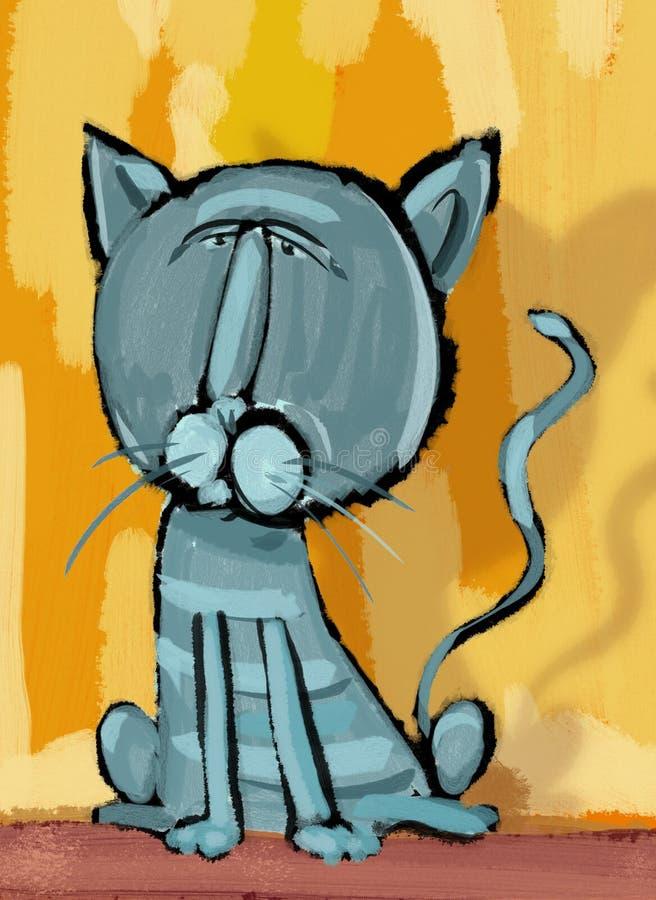 猫字符数字式绘画 库存例证