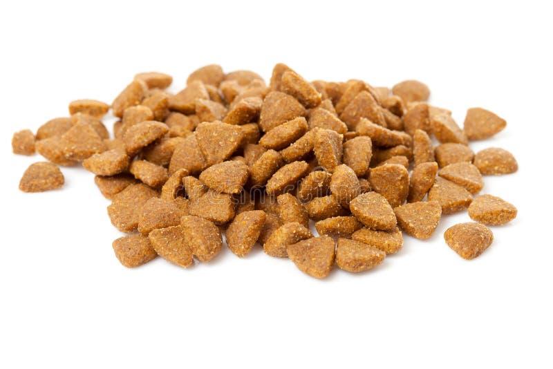 猫干燥食物堆 免版税库存照片