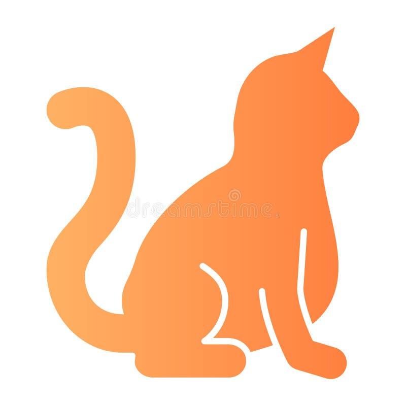 猫平的象 在时髦平的样式的动物颜色象 全部赌注梯度样式设计,设计为网和应用程序 10 eps 向量例证
