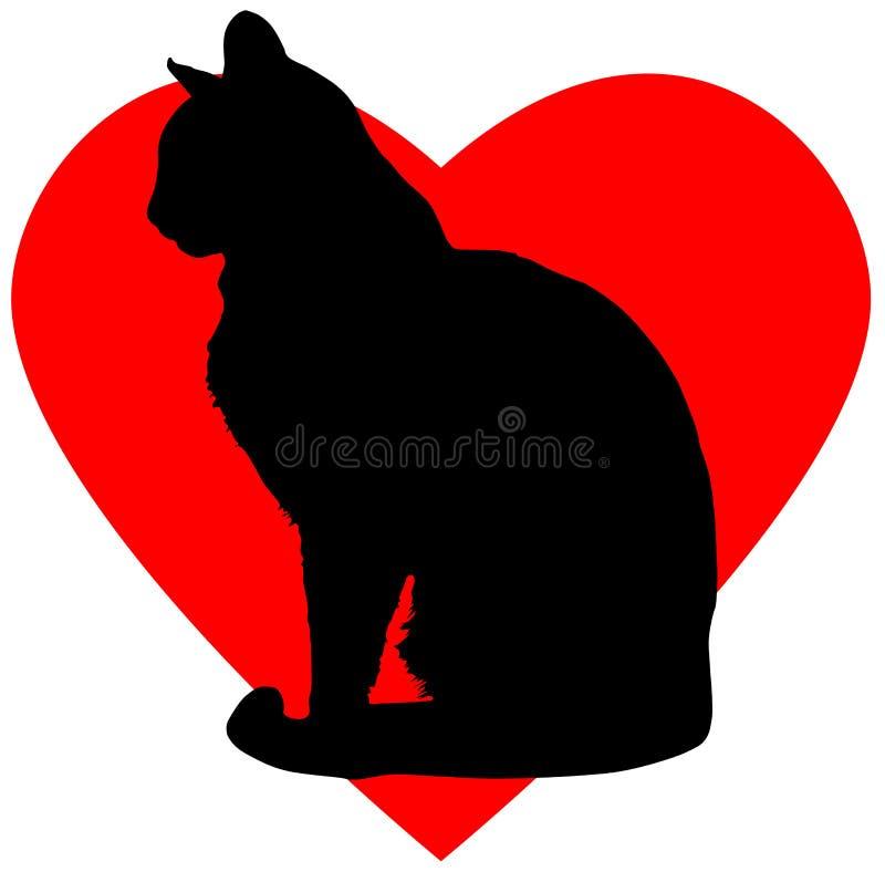 猫日图画爱理想的华伦泰 皇族释放例证