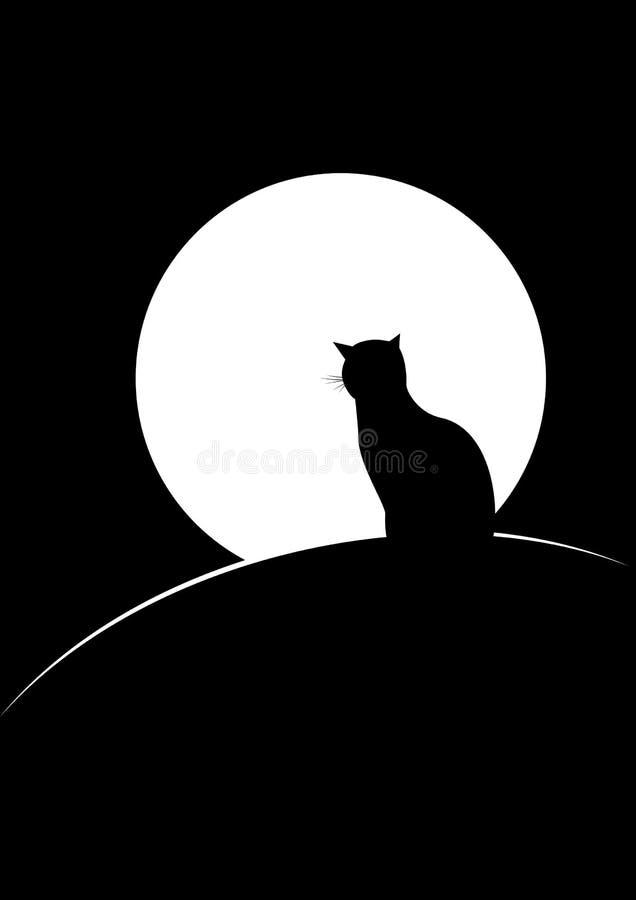 猫月亮 库存例证