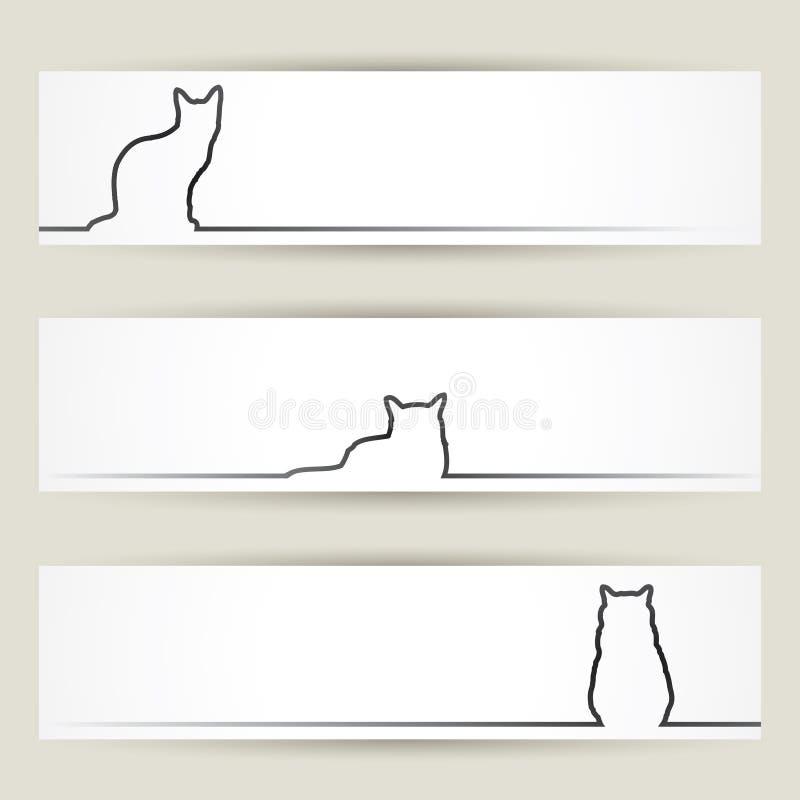 猫横幅 向量例证
