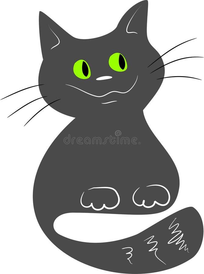 猫灰色 库存例证