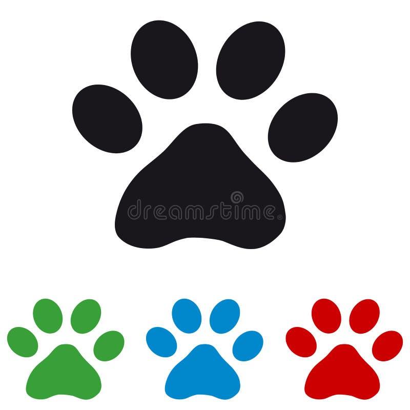 猫爪子-五颜六色的传染媒介象 向量例证