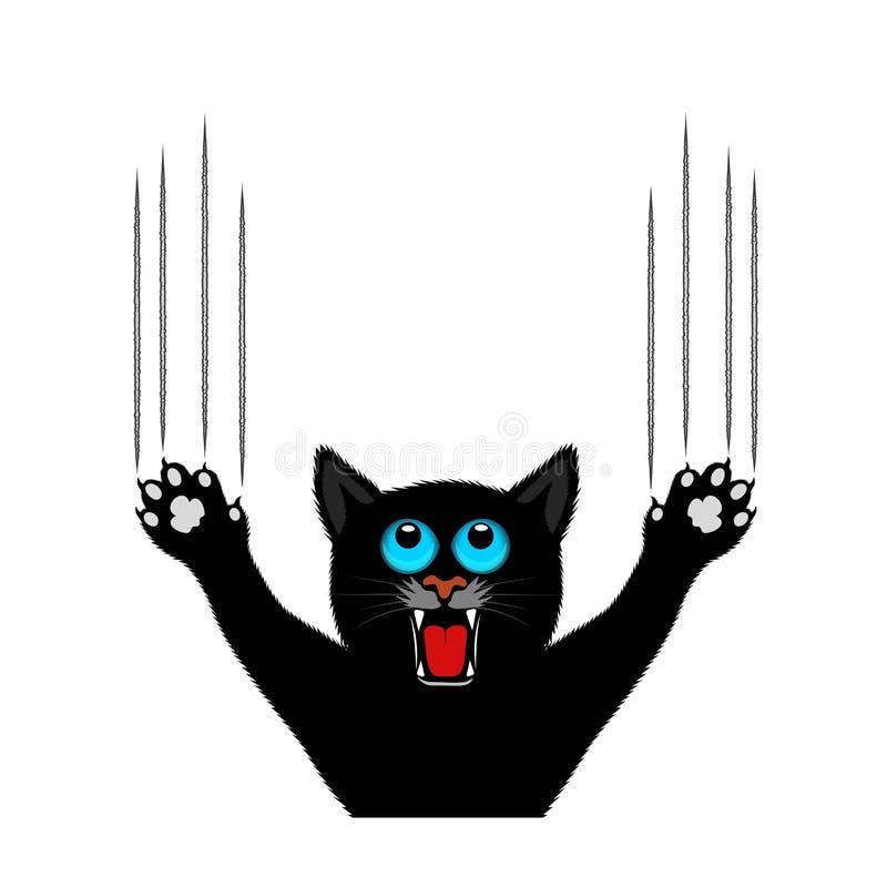 猫爪抓背景 库存例证