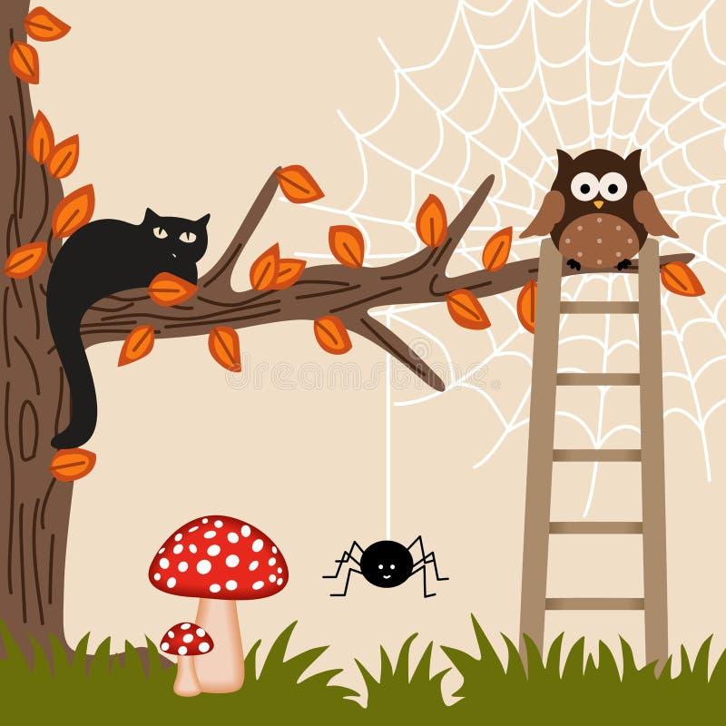 猫猫头鹰结构树 向量例证
