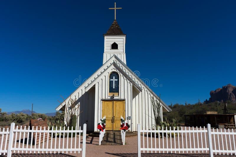 猫王纪念教堂亚利桑那 免版税库存图片