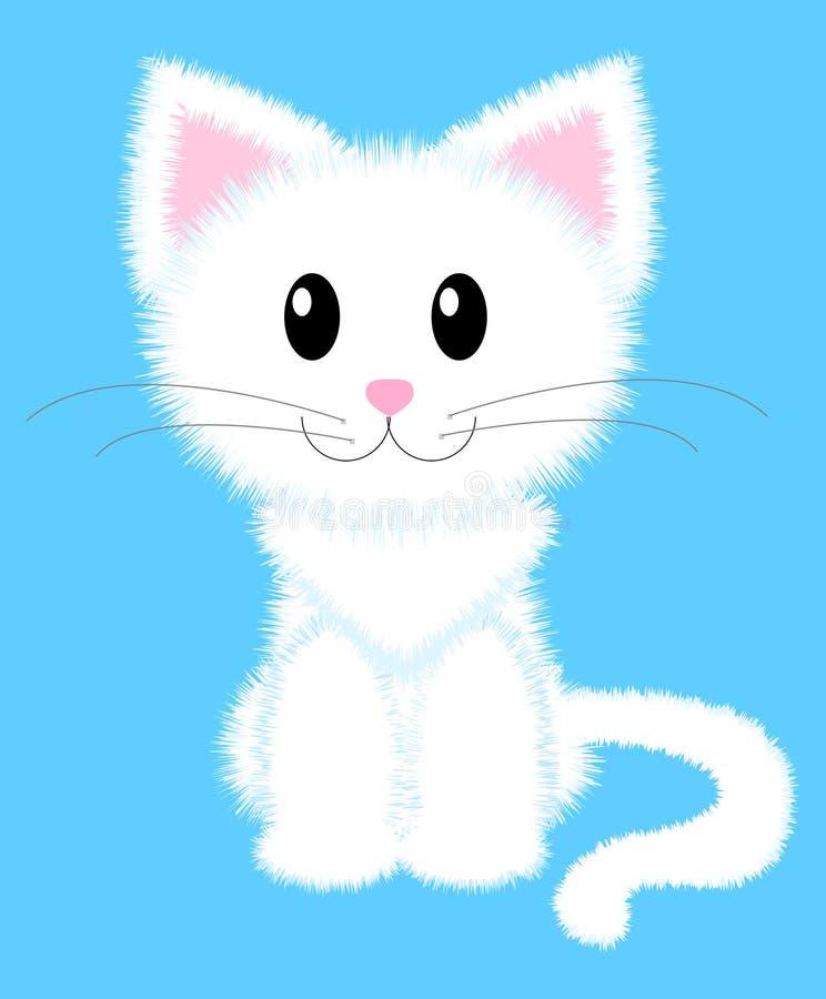 猫白色 向量例证