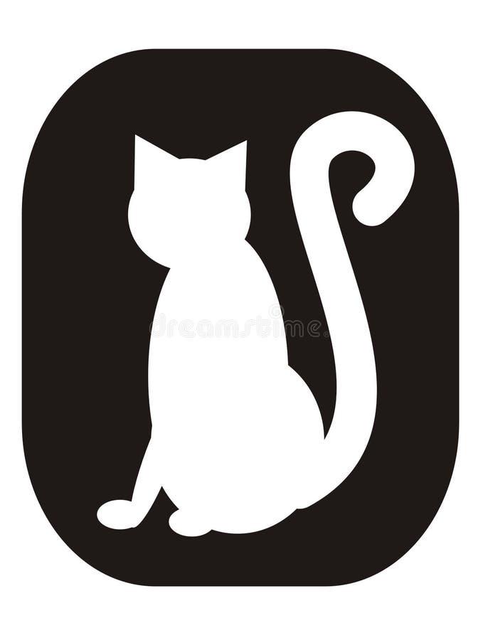 猫白色 库存例证