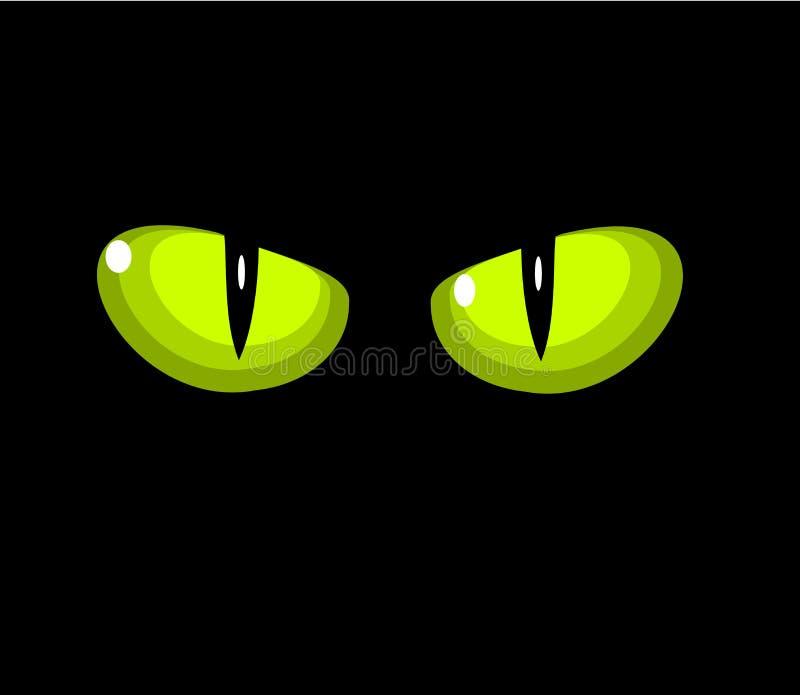 猫眼绿色 向量例证