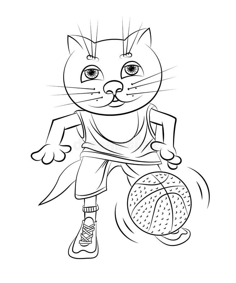 猫篮球运动员 皇族释放例证