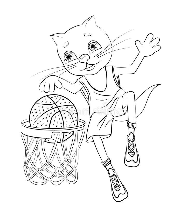 猫篮球运动员 向量例证