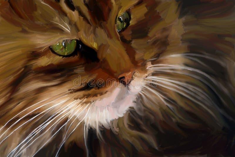 猫纵向 向量例证