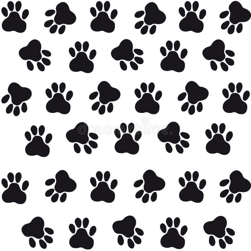 猫背景踪影  您的流失的传染媒介例证 库存例证