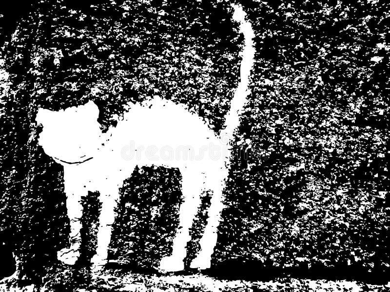 猫膏药墙壁 向量例证