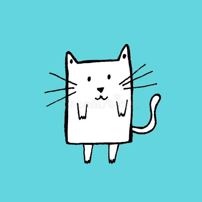 猫草图 向量例证