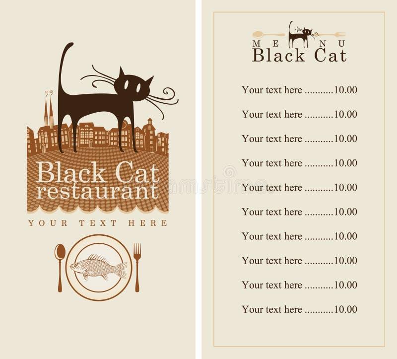 猫菜单 皇族释放例证
