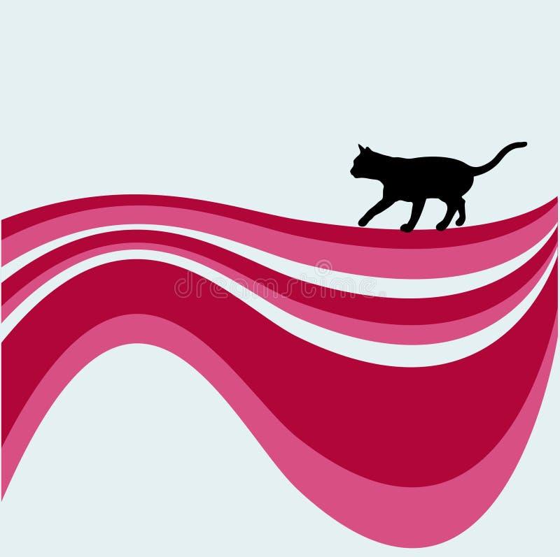 猫迷路者漩涡 库存例证