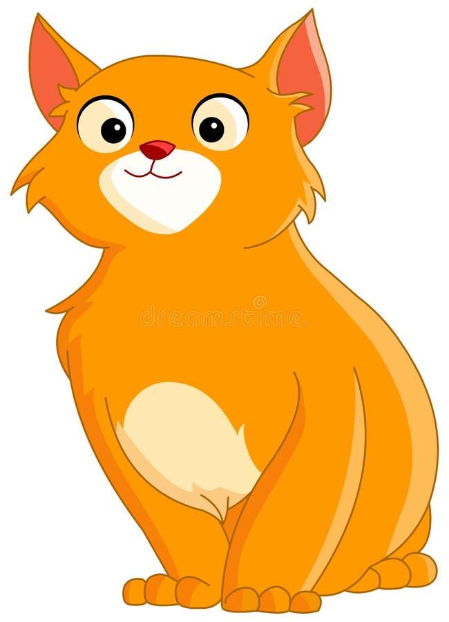 猫逗人喜爱的姜 向量例证