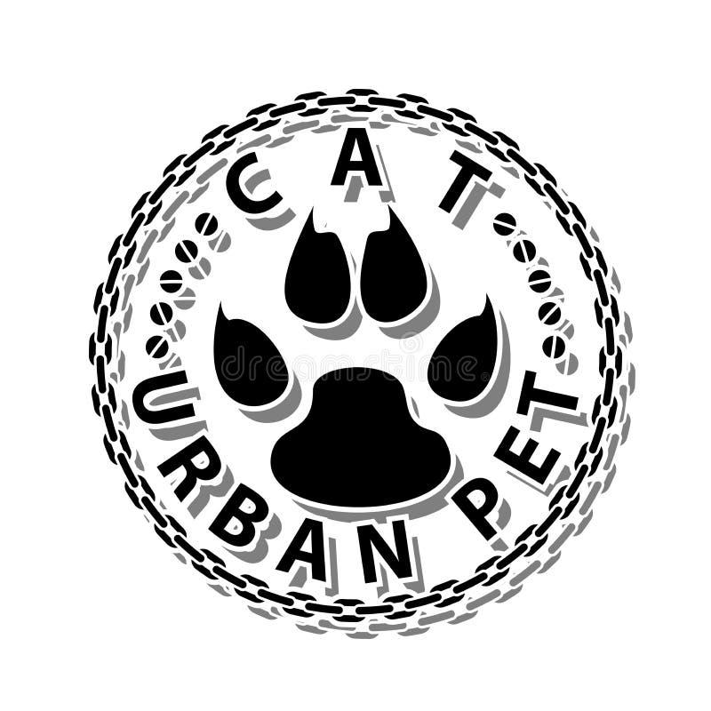 猫都市宠物 向量例证