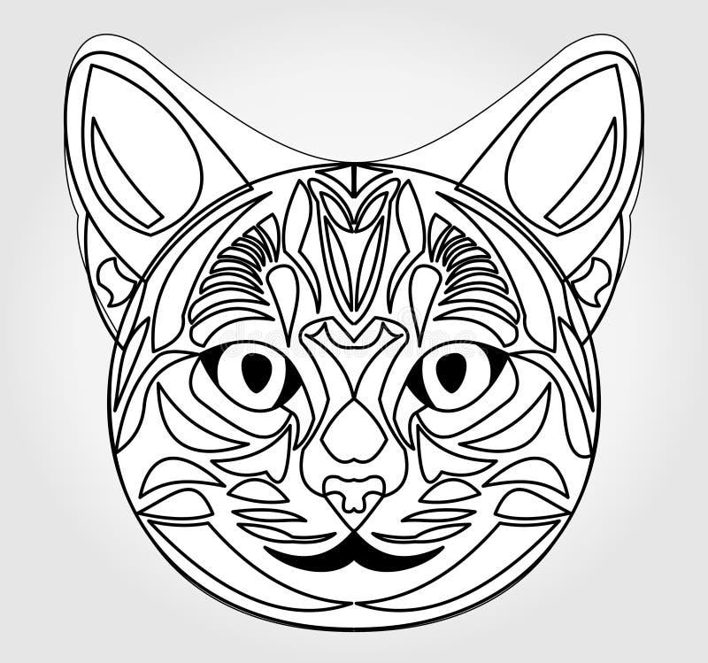 猫顶头图画 太阳神的标志 埃及神话标志 皇族释放例证