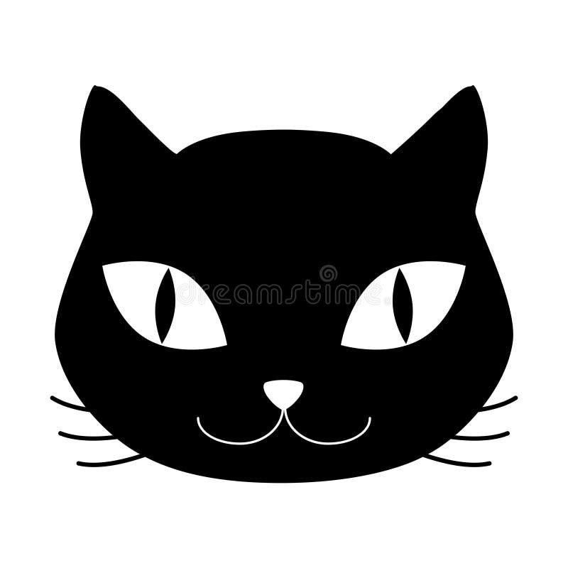 猫顶头象 库存例证