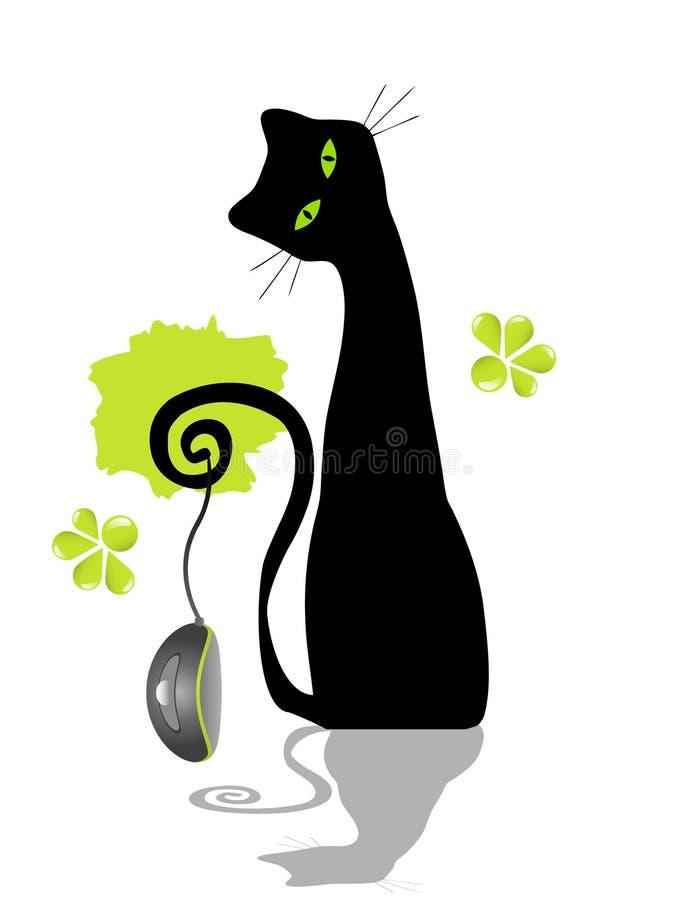 猫鼠标 皇族释放例证
