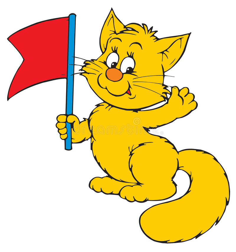 猫(向量夹子艺术) 皇族释放例证
