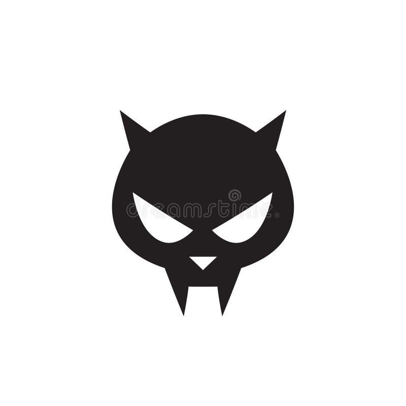 猫头骨标志-传染媒介例证 皇族释放例证