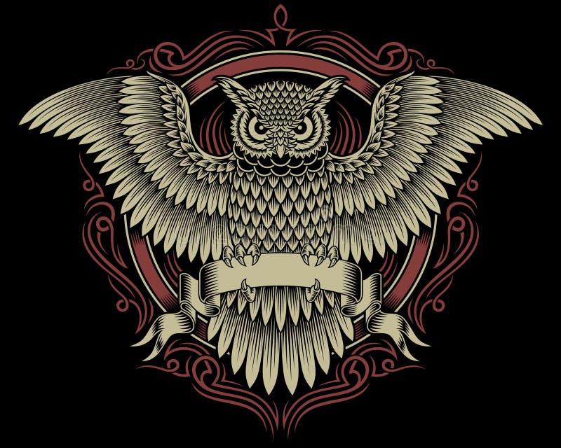 猫头鹰冠 皇族释放例证