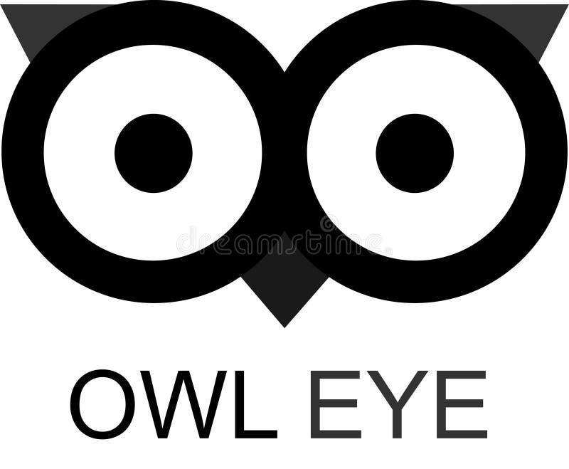 猫头鹰眼睛 库存例证