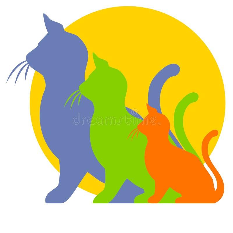 猫clipart增长小猫 库存例证