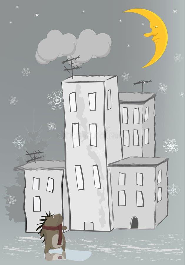 猬降雪 向量例证