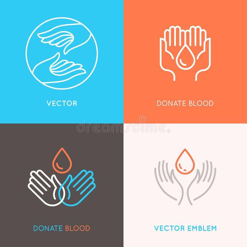 献血、医学和医疗保健概念 库存例证