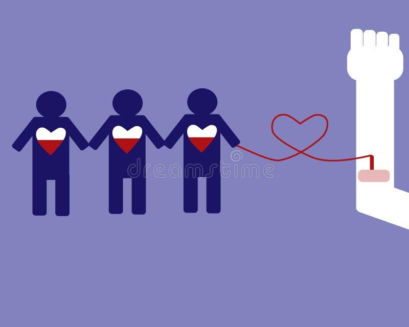 献血可能救人 库存例证