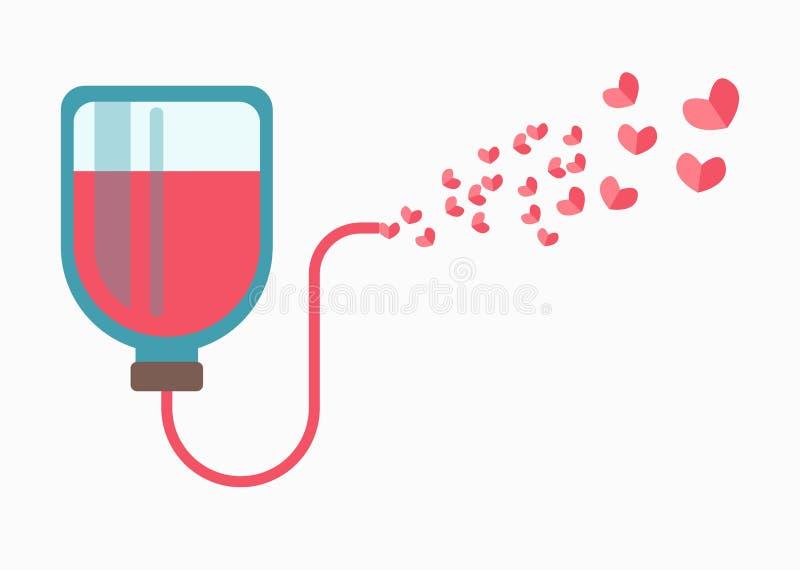 献血在白色隔绝的略写法标志 医疗吸管心脏 皇族释放例证