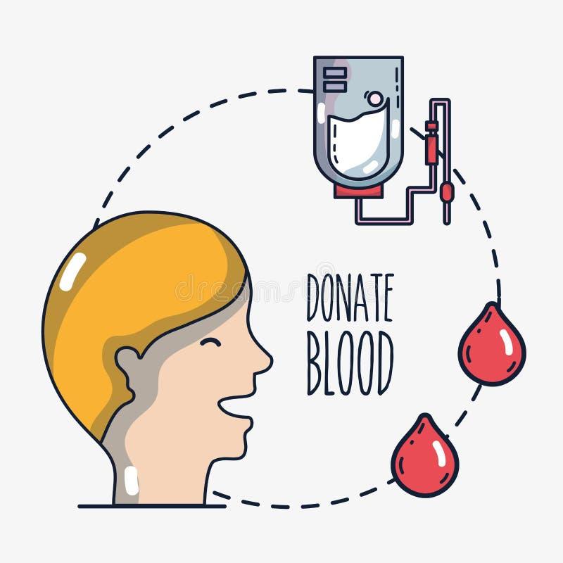 献血注入用特别设备 向量例证