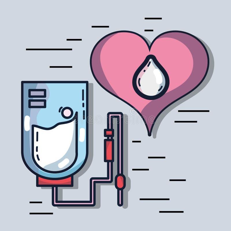 献血注入用特别设备 皇族释放例证