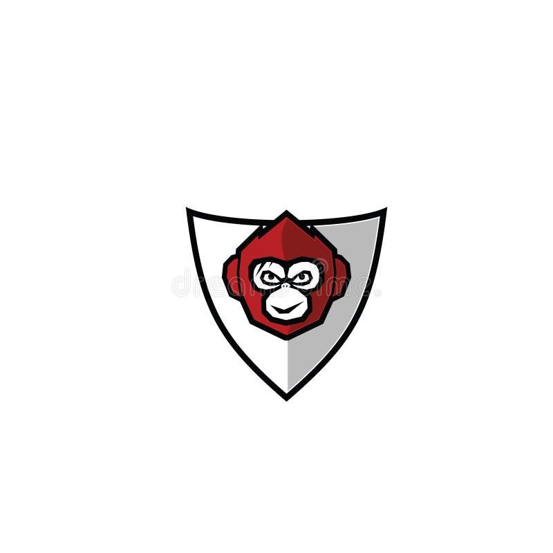 猴子商标传染媒介标志 免版税图库摄影