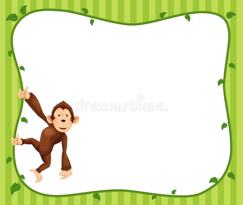 猴子框架   向量例证