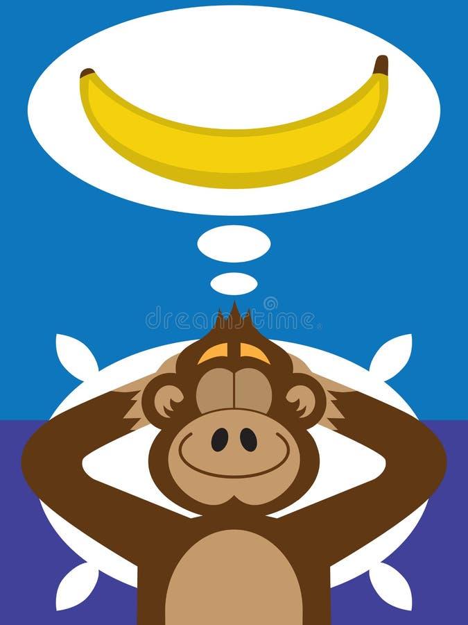 猴子香蕉梦想 库存例证