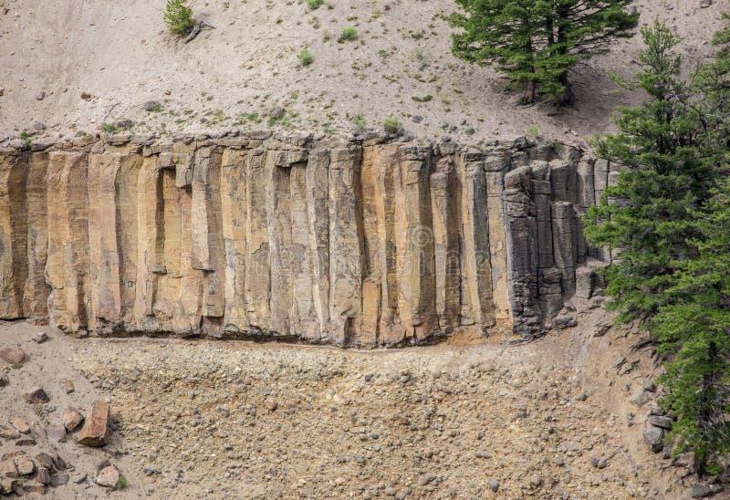 玄武岩专栏 库存图片