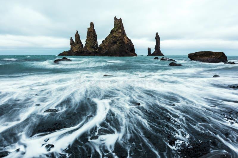 玄武岩岩层 库存照片