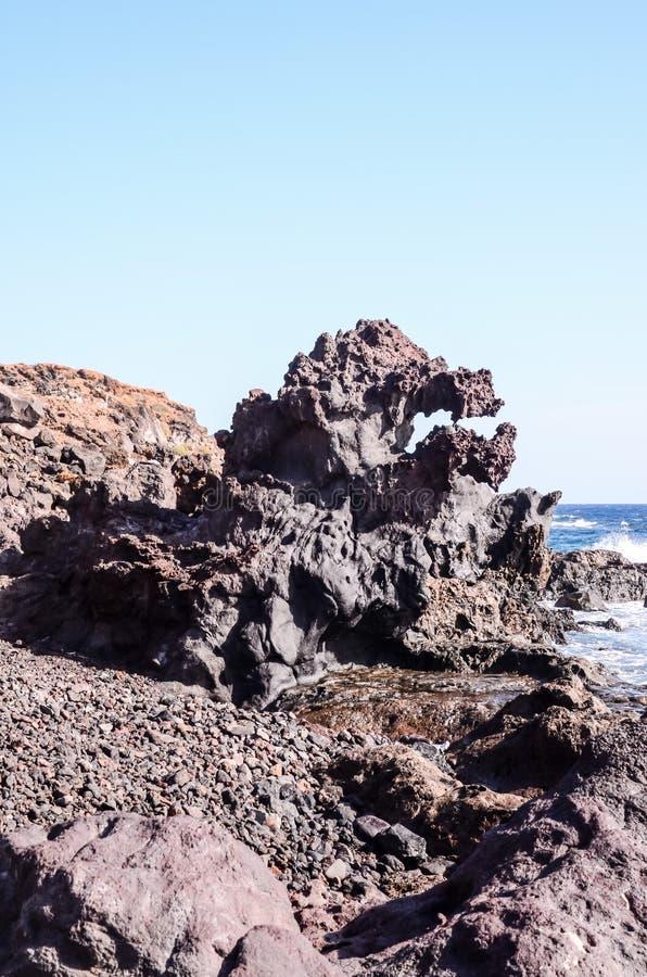 玄武岩熔岩形成 图库摄影