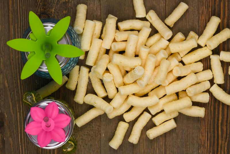 玉米吹 免版税图库摄影