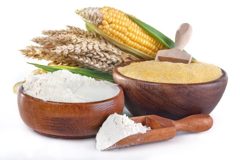玉米和麦子 免版税库存照片